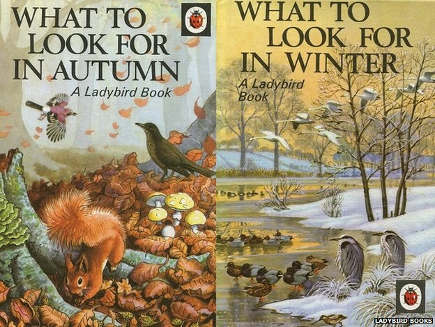 What to look for in Autumn and Winter - Ladybird book covers by Charles Tunnicliffe