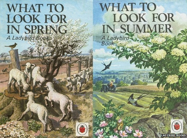 What to look for in Spring and Summer - Ladybird book covers by Charles Tunnicliffe