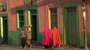 The main street in Harar