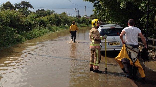 Hemsby flooding
