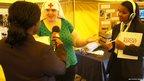 Imanuella interviews nurse Linda de Battisha