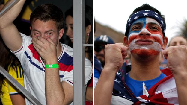 England fan and USA fan
