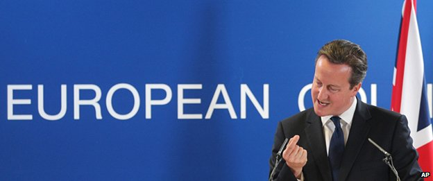 David Cameron speaks during a media conference after an EU summit in Brussels