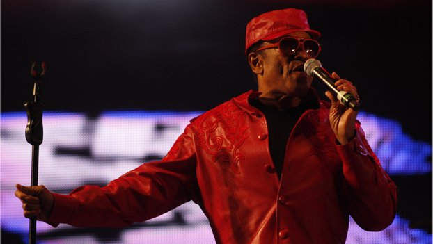Picture shows Bobby Womack performing on the West Holts Stage at Glastonbury, 2013.