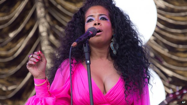Kelis performs at the Glastonbury Festival on 28 June 2014