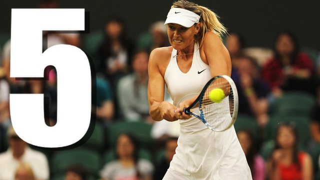 Maria Sharapova's best five points against Alison Riske