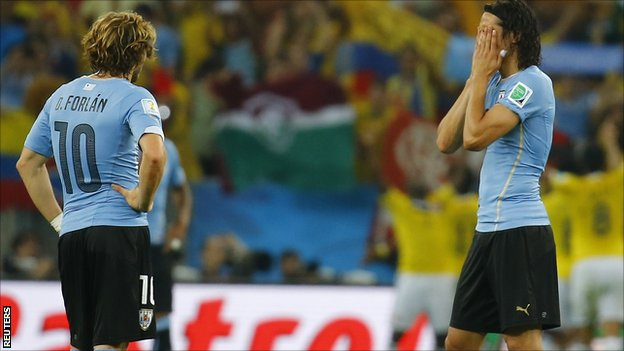 Diego Forlan and Edinson Cavani