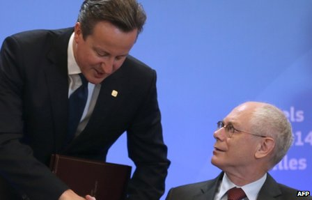 David Cameron and Herman Van Rompuy