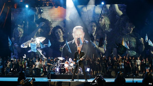 Metallica at Glastonbury