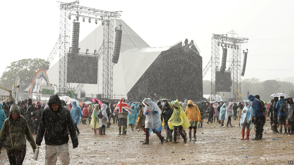 Rain at Glastonbury