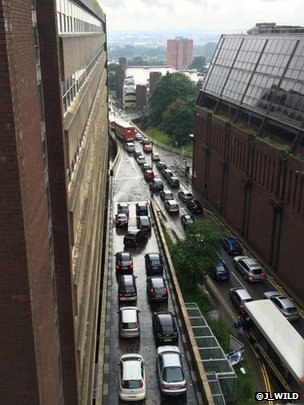 Gridlock in Northampton Town Centre