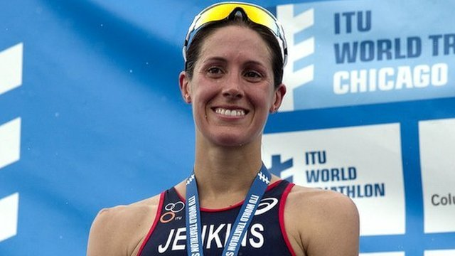 Britain's Helen Jenkins was hampered by the humid conditions in Chicago