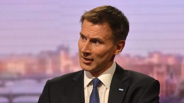 Jeremy Hunt on the Andrew Marr show on 27 April 2014