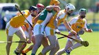 Antrim forward Conor McKinley gets in front of Colin Egan but Westmeath ran out 2-19 to 1-20 winners