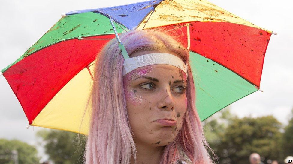 Glastonbury festival-goer