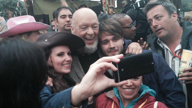 Michael Eavis selfie