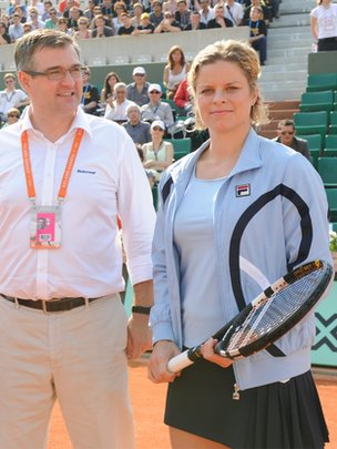 Eric Babolat with Kim Clijsters