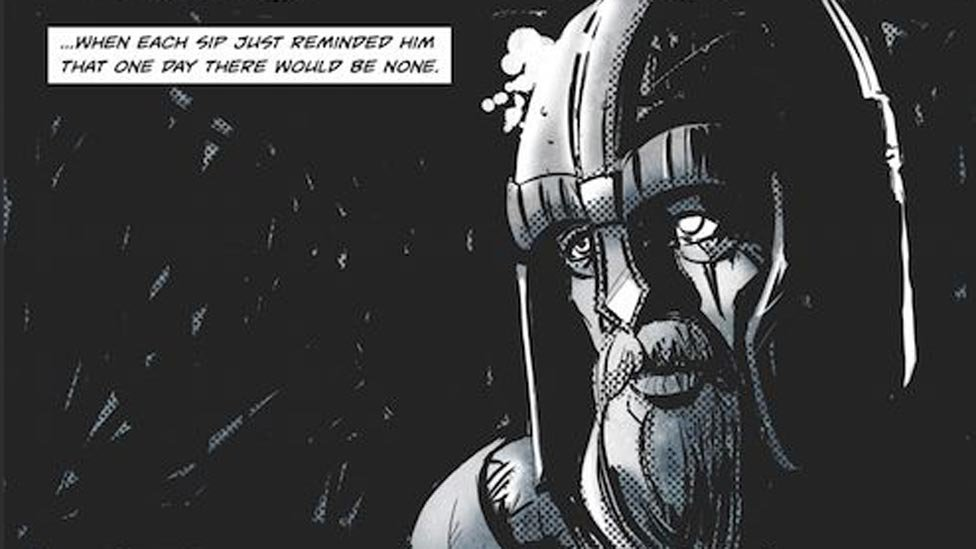 Comic book adaption of Robert Louise Stevenson's The Heather Ale
