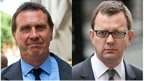 Clive Goodman (left) and Andy Coulson. Pics: Getty/Reuters