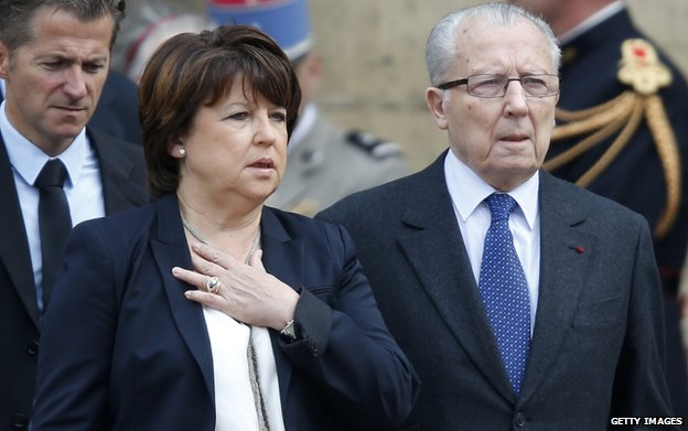 File pic of Martine Aubry and father, Jacques Delors (June 2013)