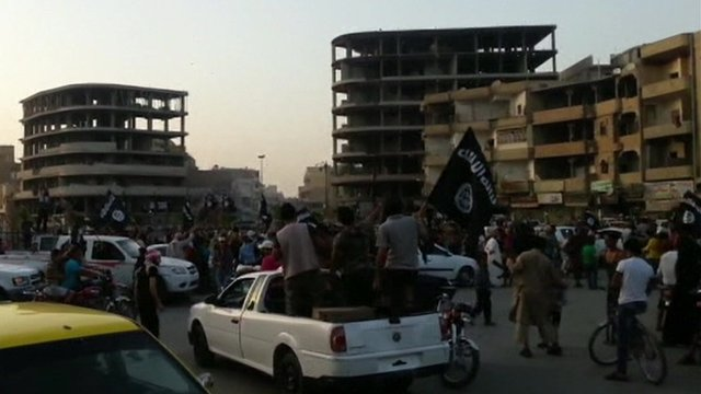 Celebrations in Raqqa, Syria