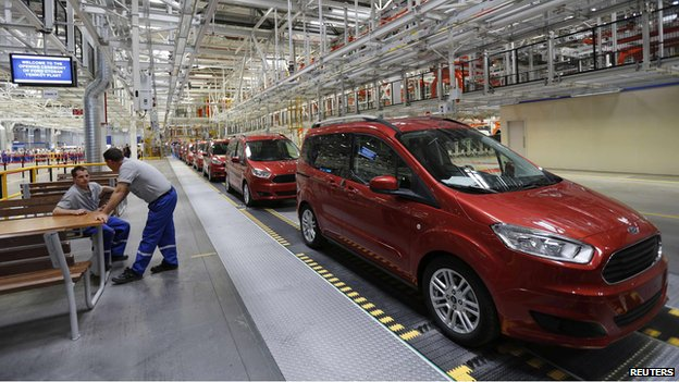 Ford production line in Turkey