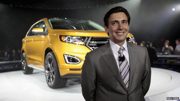 Mark Fields unveiling the 2015 Ford Edge