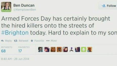 Ben Duncan's tweet