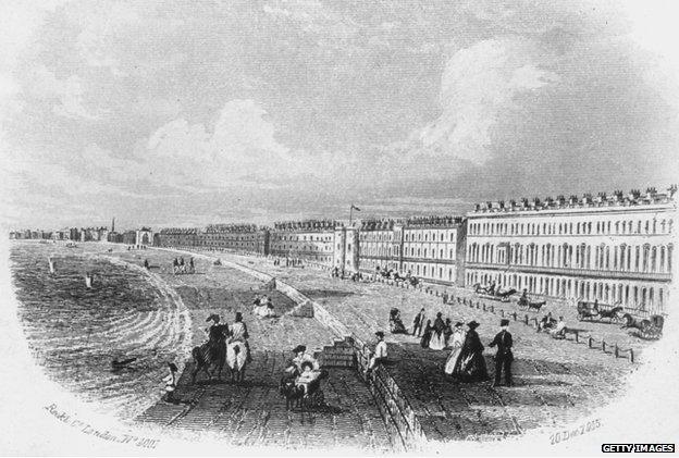 The Belvidere Esplanade, Weymouth, Dorset, 20 December 1855.