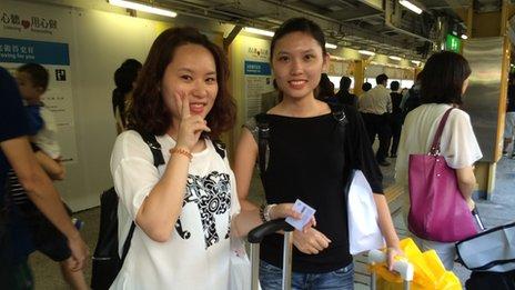 Winnie Chen (left) and friend