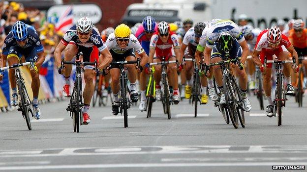 Scene from Le Tour de France 2012