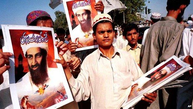 Pro-Bin Laden demonstration in Karachi, Pakistan (file photo)