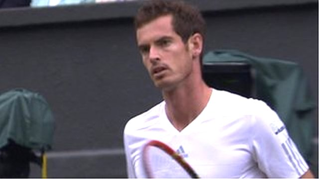Andy Murray takes an early break of serve