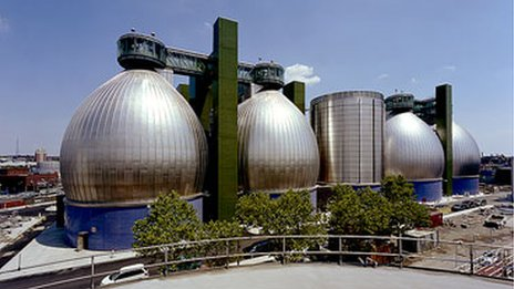 Newtown Creek Wastewater Treatment Plant in Brooklyn, New York