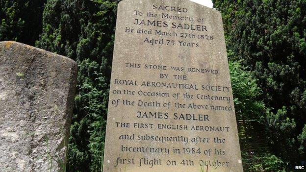 James Sadler's grave