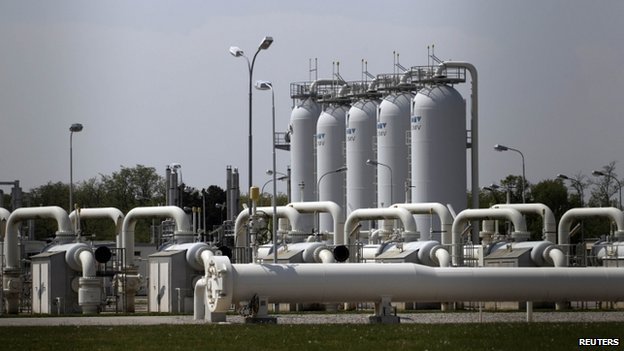 Austria's largest natural gas import and distribution station in Baumgarten