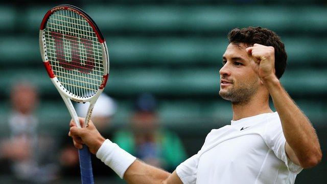 Wimbledon 2014: Gregor Dimitrov beats Leonardo Mayer in 60 seconds