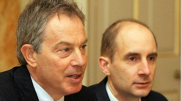 Andrew Adonis (right) with Tony Blair