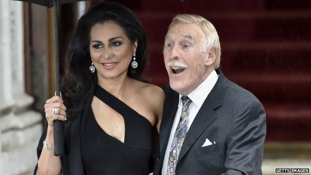 Sir Bruce Forsyth and his wife