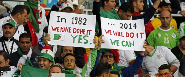 Algeria fans in confident mood ahead of their game with Germany