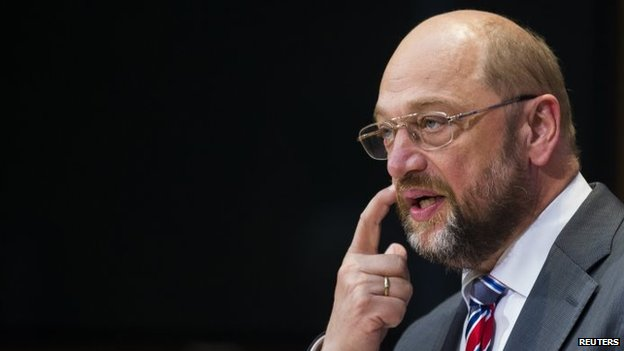 File photo: Martin Schulz, 26 May 2014