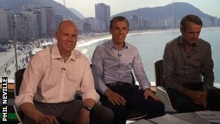 In the studio with Brad Friedel and Alan Hansen