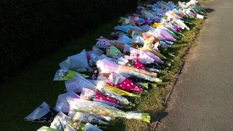 Floral tributes to Liberty Baker