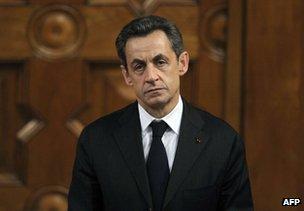 Nicolas Sarkozy in Nice, southern France, 9 March 2012