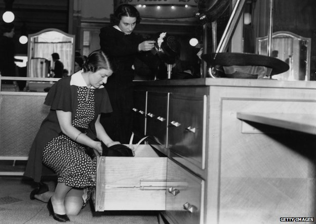 Shop assistants in department store, 1930