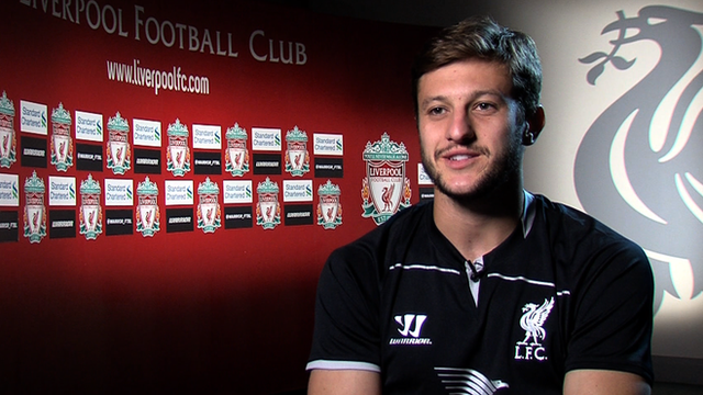 New Liverpool midfielder Adam Lallana