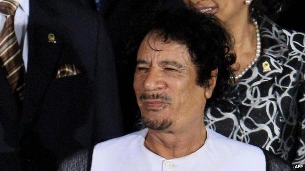 Muammar Gaddafi in 2009
