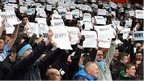 Coventry fans protest