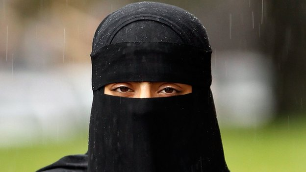 Rights disgrace: European Court upholds French full veil ban _75960380_niqabindexgetty