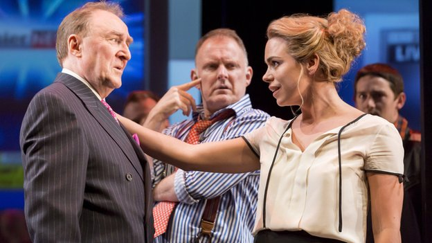 Dermot Crowley, Robert Glenister and Billie Piper in Great Britain